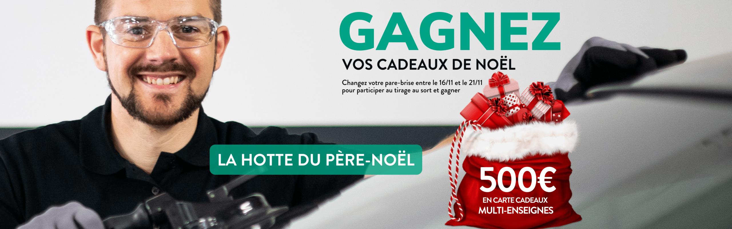 Tentez de gagner 500 € en carte cadeau Illicado en remplaçant votre pare-brise !