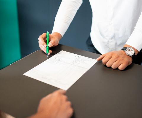 Signature du document 123 Pare-Brise pour la franchise offerte