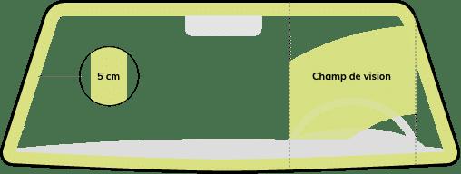 Schéma explicatif sur les conditions d'une réparation de pare-brise