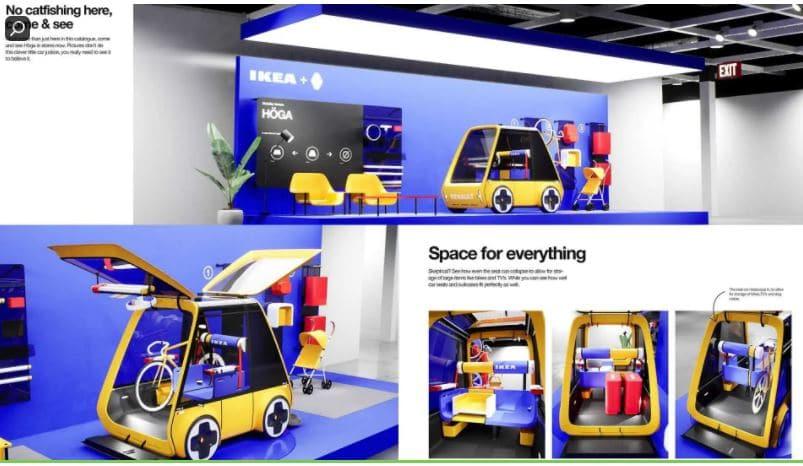 Concept de la voiture électrique en kit IKEA